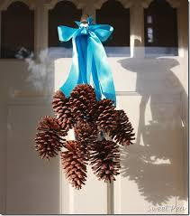 door decorations pine cone door decoration hometalk