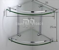 Glass Bathroom Corner Shelves Stunning Ideas Glass Shower Shelves Delightful Design Bathroom