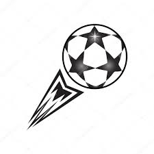 ball fly up illustration soccer ball with tail fire flame fly