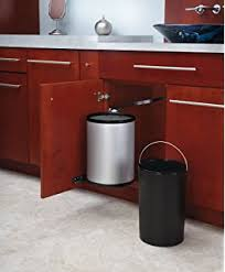 trash can attached to cabinet door amazon com simplehuman 10 liter 2 6 gallon in cabinet kitchen