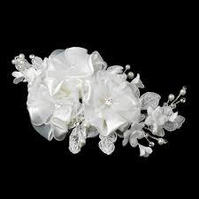 rhinestone hair ivory pearl rhinestone accent floral hair bridal comb 9649