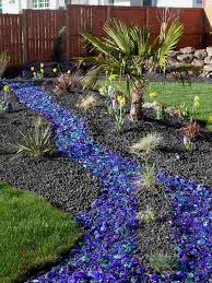 Colored Rocks For Garden Excellent Ideas Colored Landscaping Rocks Blue Landscape Pinterest