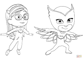 tiger mask coloring disney pj masks coloring pages free