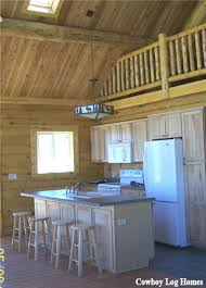 log home kitchen cowboy log homes