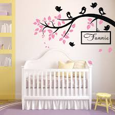 compare prices on huge window wall stickers online shopping buy huge birds branch wall sticker vinyl decal kid nursery baby decor personalised name wall sticker for