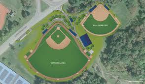 softball field lighting cost first in nescac turf softball baseball fields under construction at