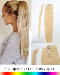 ponytail extension high quality 613 white ponytail hair extensions diy dye