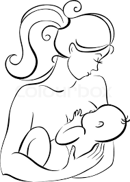 mother and baby stock vector colourbox