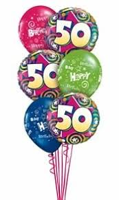 50th birthday balloons delivered 50th birthday bouquet