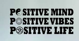 vinyl wall decal positive mind vibes yin yang flower om