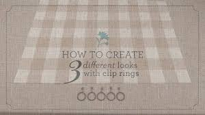 How To Hang Drapes 3 Ways To Hang Curtains With Clip Rings By Country Curtains Youtube