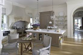 brown varnished teak wood kitchen island rectangular marble