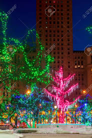 Zoo Lights Ohio by Festive Christmas Lights On Public Square In Downtown Cleveland