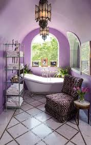 Lavender Decor Stylish Moroccan Bathroom Concept With Purple And Pink Dominant