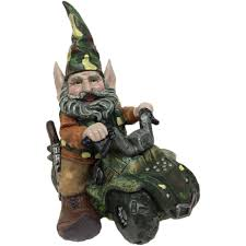 Gnome Garden Decor Garden Gnomes Hunter Gnome Riding Customized Atv Home Garden Decor