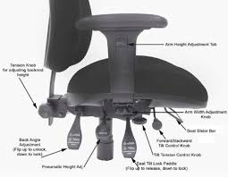 Office Chairs Unlimited 5 Common Office Chair Adjustments Each Lever Explained