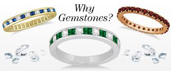 gemstones wedding rings images Guide to the ins and outs of nontraditional gemstone wedding bands jpg