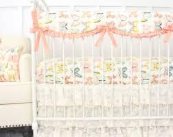 Shabby Chic Crib Bumper by Shabby Chic Rose Ruffle Baby Bedding Set Vintage Baby