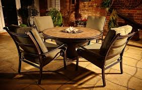 Patio Sets With Fire Pit Wonderful Round Patio Dining Table With Fire Pit Patio Furniture
