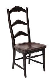 Chair by Colonial Side Chair Black Dark Rustic Pecan Weir U0027s Furniture