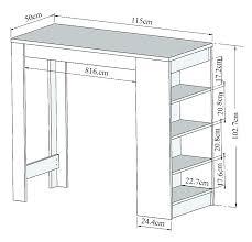 hauteur table haute cuisine hauteur table de cuisine engageant hauteur table bar de cuisine