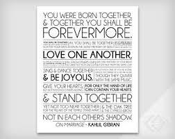 wedding quotes kahlil gibran kahlil gibran etsy