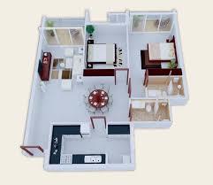 2 Bedroom House Plans Open Floor Plan 25 More 2 Bedroom 3d Floor Plans