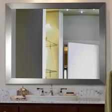furniture stainless silver frame wayfair mirror for bathroom
