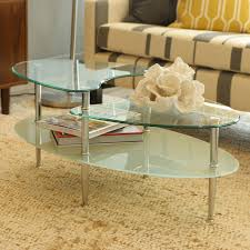 glass coffee table walmart dual wave oval glass coffee table walmart canada in oval glass