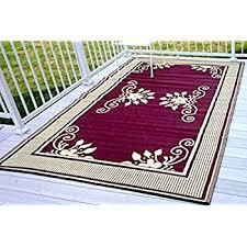 amazon com 6 u0027x9 u0027 reversible indoor outdoor rug patio rv camping