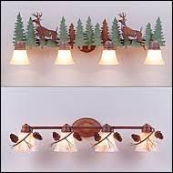 Rustic Bathroom Vanity Light Fixtures - rustic bath vanity lights handcrafted rustic lights by bathroom