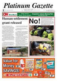 platinum gazette 24 january 2014 by platinum gazette issuu