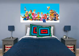 super mario mural wall decal shop fathead for mario decor super mario fathead wall mural