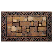 brown cobblestone aberdeen doormat 18 x 30 in at home at home