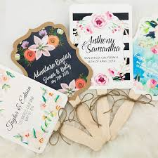 Fan Style Wedding Programs Personalized Hand Fans Custom Wedding Fans Wedding Favors