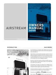 airstream user manual trailer vehicle truck