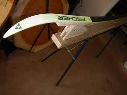 plans for a portable diy ski wax bench xc ski pinterest