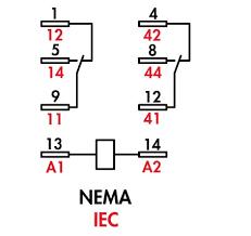 item 792xbxm4l 24d 792 ice cube relays dpdt 12 amp rating on