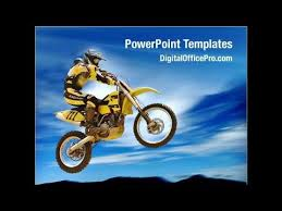 motorcycle sport powerpoint template backgrounds
