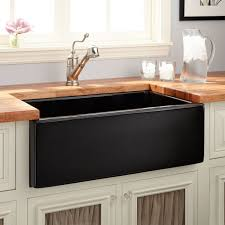 Sinks Kitchens 30 Mitzy Fireclay Reversible Farmhouse Sink Smooth Apron Black