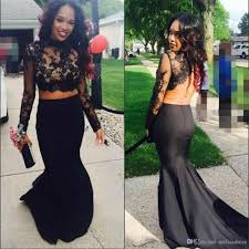 black sheer lace top keyhole neck special occasions gowns long