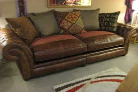Leather And Upholstered Sofa Collection In Fabric Leather Sofa Interiorvues