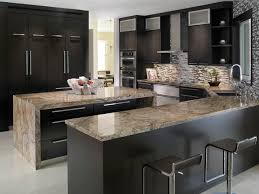 Kitchen Marble Countertops by Elegant Kitchen With Tiberius Gold Granite Countertops