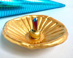 golden dish ring holder images Gold trinket dish etsy jpg