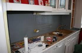 repeindre un plan de travail cuisine plan de travail mural cuisine affordable cuisine sans poignes