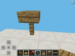 minecraft furniture ideas pocket edition cheats this small table design consisting one wooden fence and half