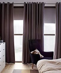 curtains enticing ikea brown sanella bedroom window treatment