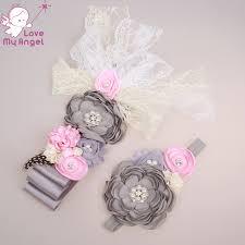 baby shower sash grey floral sash belt newborn flower sash and headband set