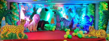 theme decorations jungle theme birthday decoration hiibangalore
