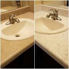 Refinishing Bathroom Fixtures Extraordinary Bathroom Sink Vanity Resurfacing By Renew In